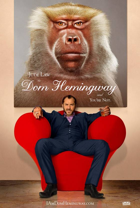 Dom Hemingwag poster jude law