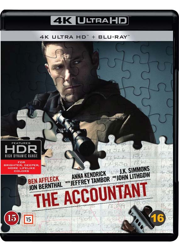 The Accountant 4K Blu-ray cover