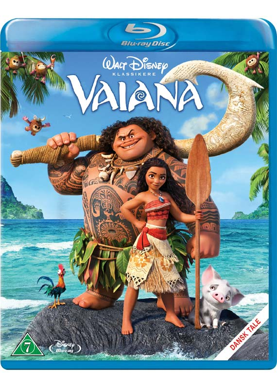 Vaiana Blu-ray cover