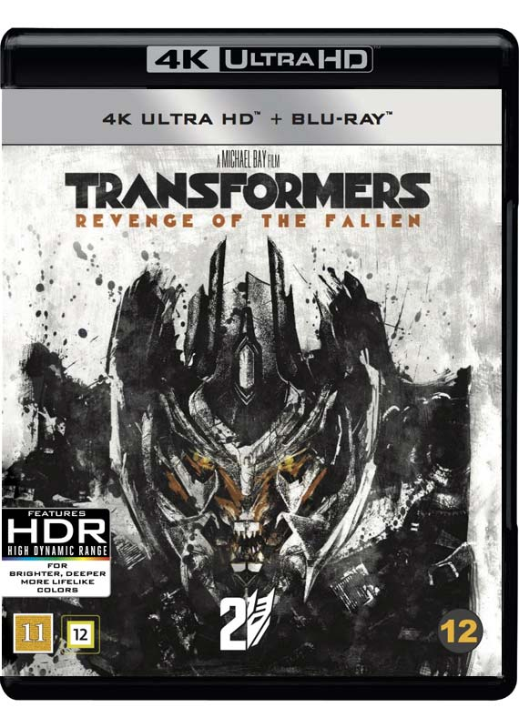 Transformers Revenge of the Fallen 4k ultra HD Blu-ray cover
