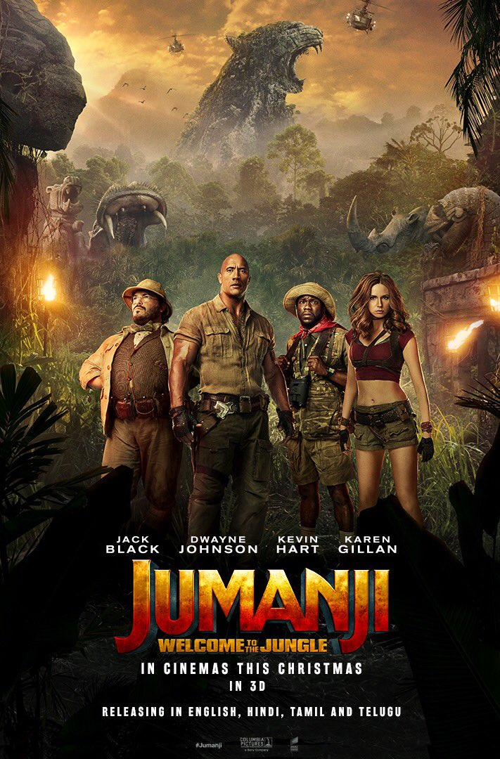 Jumanji Welcome to the Jungle biograf poster