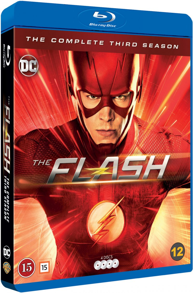 The Flash season 3 blu-ray cover