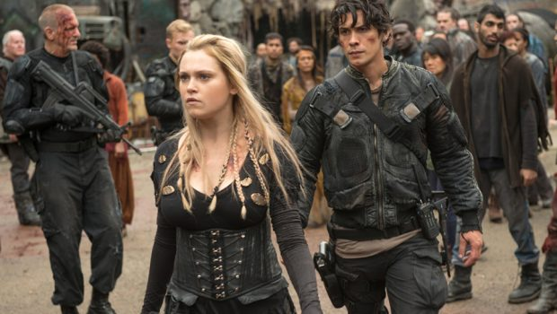 "The 100 -- ""Echoes"" -- Image HU401a_0238 -- Pictured (L-R): Eliza Taylor as Clarke and Bob Morley as Bellamy -- Credit: Diyah Pera/The CW -- © 2016 The CW Network, LLC. All Rights Reserved"