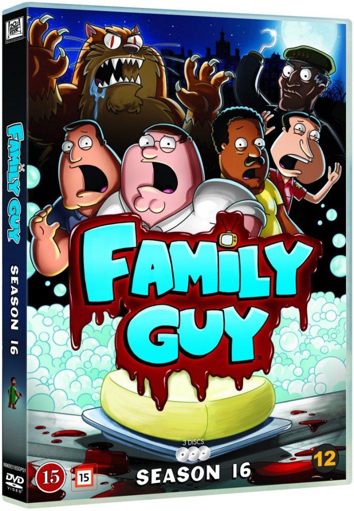 Family Guy Season 16 dvd cover