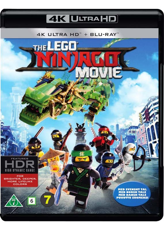 LEGO Ninjago Movie 4k blu-ray cover
