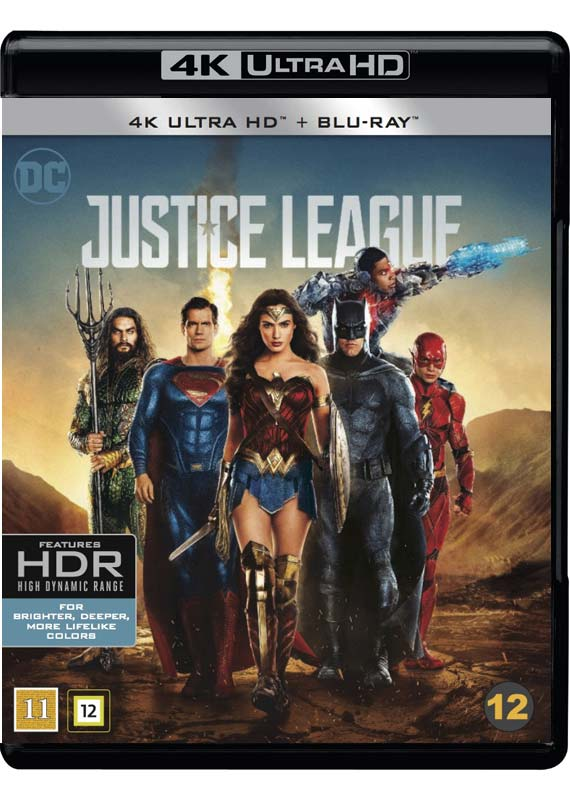 justice league 4k blu-ray cover
