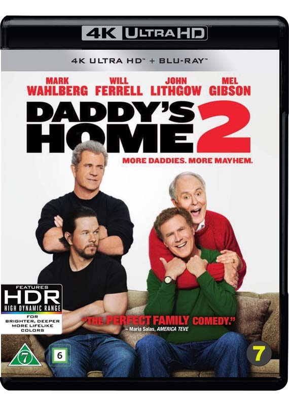 daddys home 2 4k blu-ray cover