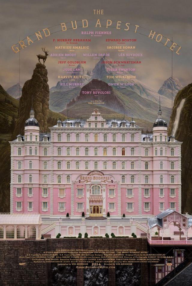 Grand Budapest Hotel teaser poster plakat