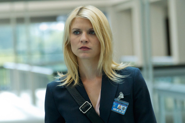 """In this image released by Showtime, Claire Danes portrays Carrie Mathison in a scene from the Showtime original series, """" Homeland."""" Danes was nominated Thursday, Dec. 13, 2012 for a Golden Globe for best actress in a drama series for her role in ì Homeland .ì  The 70th annual Golden Globe Awards will be held on Jan. 13. (AP Photo/Showtime, Kent Smith)"""
