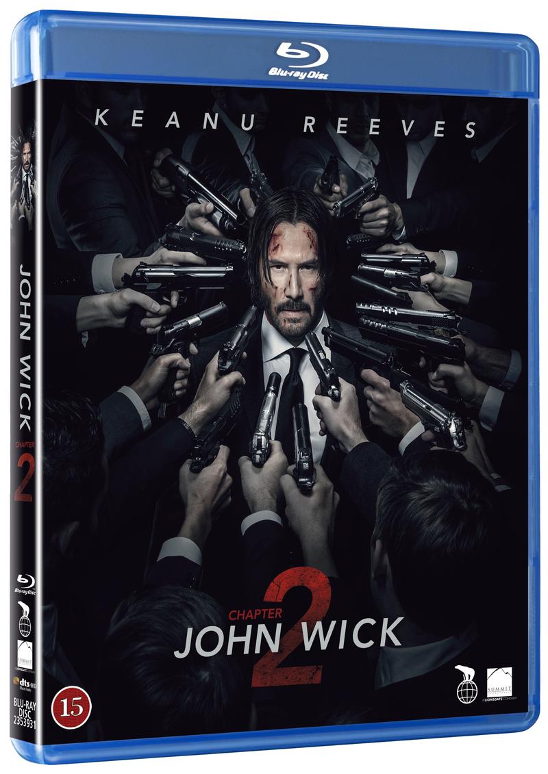 John Wick 2 Blu-ray cover