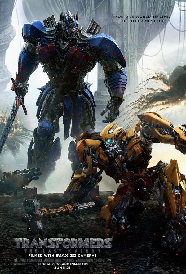 Transformers The Last Knight biograf poster