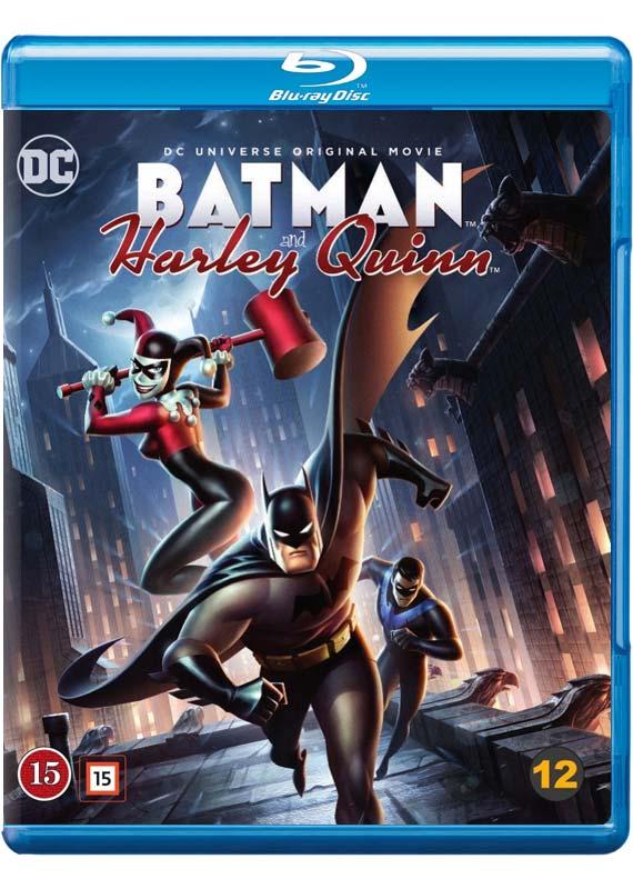Batman and Harley Quinn blu-ray cover