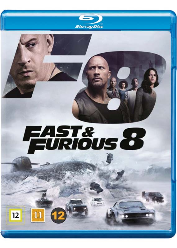 Fast & Furious 8 blu-ray cover