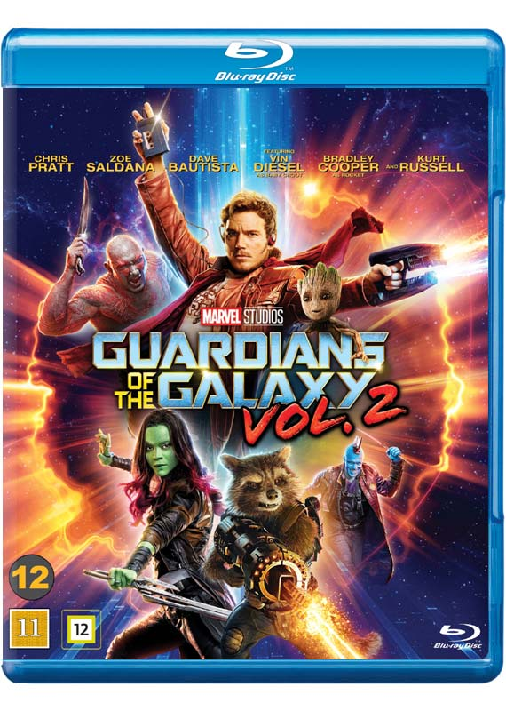 Guardians of the Galaxy 2 blu-ray cover