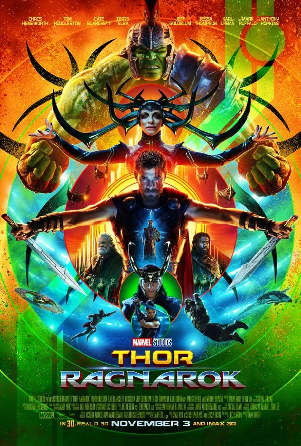Thor Ragnarok biograf poster