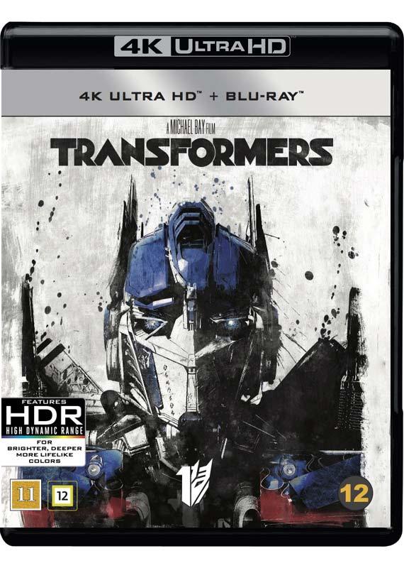 Transformers 4k ultra HD Blu-ray cover