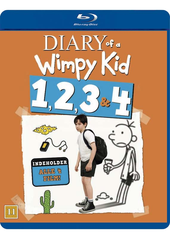 Diary of a Wimpy Kid 1 2 3 4 blu-ray cover