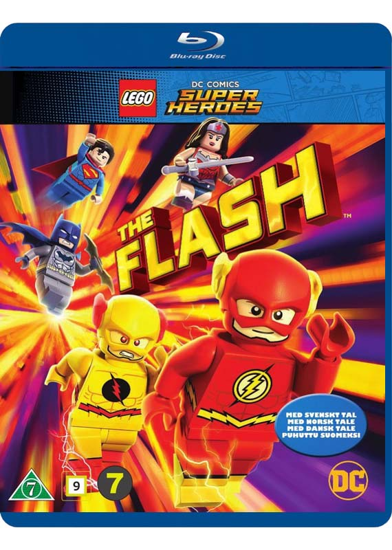 Lego The Flash blu-ray cover